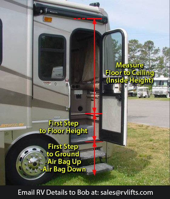 Measure for Quote and Installation - RV Lifts